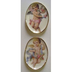 BOY & GIRL ANGEL PLATTER 2PCS.