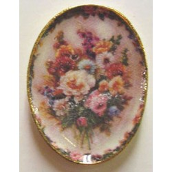 FLORAL OVAL TRAY