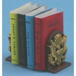 BOOKENDS WITH BOOKS (4 BOOKS)