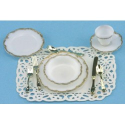 1 PLACE TABLE SETTING-GOLD TRIM