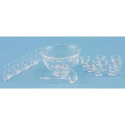 8 PIECE PUNCH BOWL SERVICE, CRYSTAL