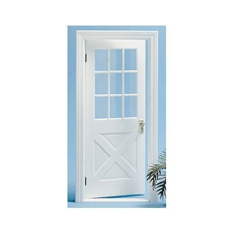 COLONIAL CROSSBUCK DOOR NO/MULLION