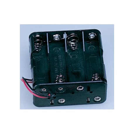 AA SIZE BATTERY HOLDER, 8 CELL, 12 VOLTS