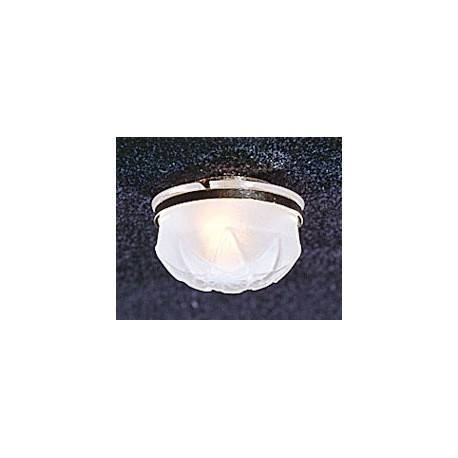 CEIL LAMP W/REMOVABLE FROSTED SHADE