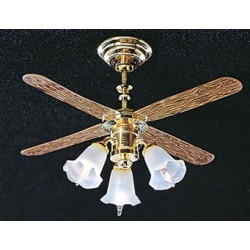 CEILING FAN W/3 TULIP SHADES
