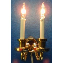 DUAL CANDLE GRAND WALL SCONCE