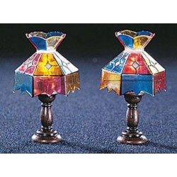 &MH620: ASST. TIFFANY TABLE LAMPS (PR)