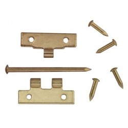 FLUSH HINGES W/NAILS, 4/PK