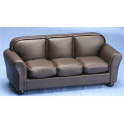 &AZT6500: LEATHER SOFA, BROWN