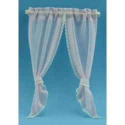 DEMI CURTAIN TIE BACK PINK OR BLUE