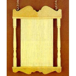 WOODEN HANGING SIGN W/CHAINS