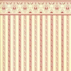6 pack Wallpaper, Regency, Burgundy Stripe