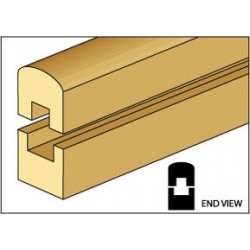 &HW7011: PORCH RAILS, TOP/BOTTOM, 2/PK