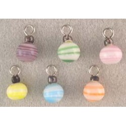 SSN: 6 PASTEL STRIPE ORNAMENTS