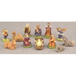 SSN: RESIN NATIVITY SET, 12PC, 3/4 IMP