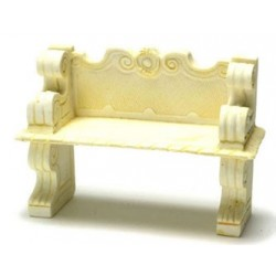 VICTORIAN BENCH, IVORY, 2 PCS