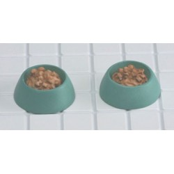 DOG DISH, GREEN, 2PC