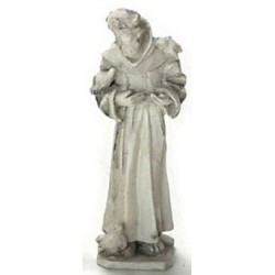 ST FRANCIS STATUE GRAY