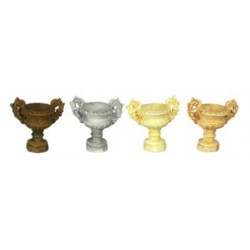 "1/2"" SCALE ANCIENT URN, 6 PC, TAN"