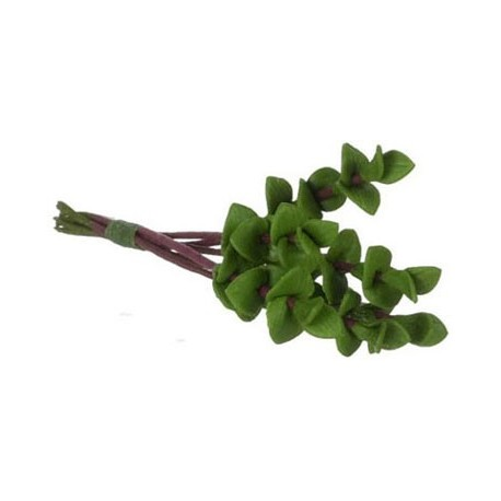 SMALL GREEN LEAVES/6 RED STEMS