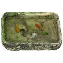 FISH POND, W/3 FISHES