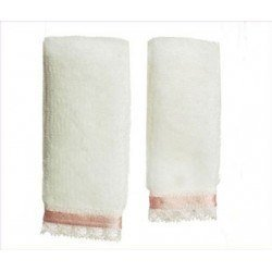 Towel Set, Pink Trim