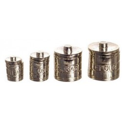 SET OF 4 ENGRAVED CANISTERS