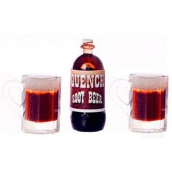 QUENCH ROOT BEER/2 MUGS