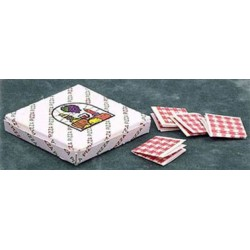 PIZZA BOX W/4 NAPKINS
