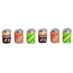 QUENCH SODA CANS, 6