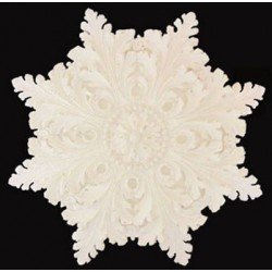 Star Shaped Ceiling Carving