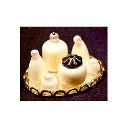 SMALL PERFUME TRAY - WHITE/NEUTRALS