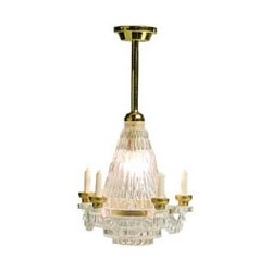 &MH758: CHANDELIER, REPLACEABLE BULB