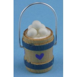 WOODEN BUCKET OF EGGS