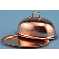 COPPER OVAL PLATE WITH LID