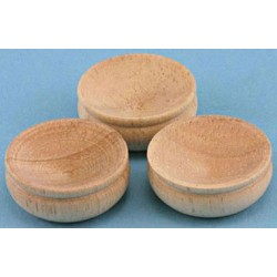WOODEN BOWLS, 3/PC
