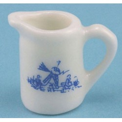 PORCELAIN PITCHER WHT/BLUE