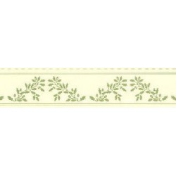 6 pack 1/2 Scale Border Acorns Green On Cream