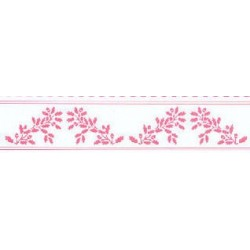 6 pack 1/2 Scale Border Acorns, Pink On White