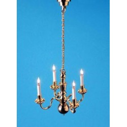 4-ARM CHANDELIER W/BI-PIN BULBS 12 V.