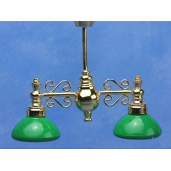 BILLIARD CHANDELIER W/GREEN SHADE 12V