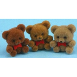 BEARS 1IN 3PCS, FLOCKED