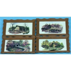 LG FRAMED PICTURES, RUSTIC, 4 PCS.