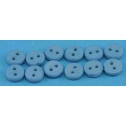 BUTTONS 4MM BLUE 12PCS