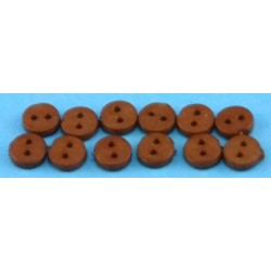 BUTTONS 4MM BROWN 12PCS