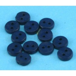 BUTTONS 4MM NAVY 12PCS