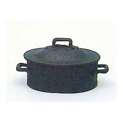 BLACK POT W/LID