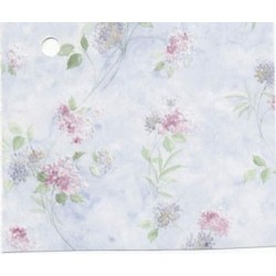 3 pack Prepasted Wallpaper: Flowers On Blue Silk