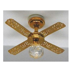 SMALL BRASS CEILING FAN