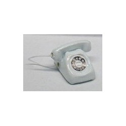 WHITE DIAL TELEPHONE